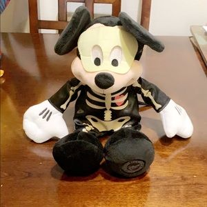 Mickey skeleton Halloween plush